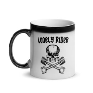 Lonely Rider Glossy Magic Mug